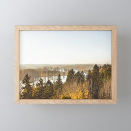 Lake from Above. || Latvian Nature. || Mist. || Autumn Time. || Fall Mood. || Landscape. Framed Mini Art Print
