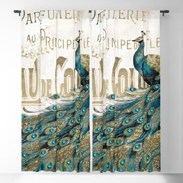 Peacock Jewels Blackout Curtain