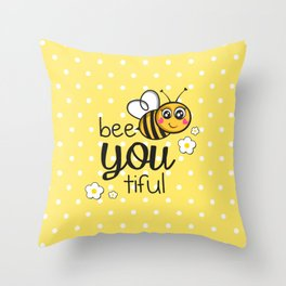 Bee-You-Tiful Throw Pillow