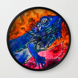 Bearded Dragon Reverse Wall Clock