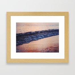 Hawaain Waves at Sunset Framed Art Print