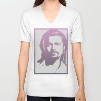 brad pitt V-neck T-shirts featuring Brad Pitt by Dora Birgis