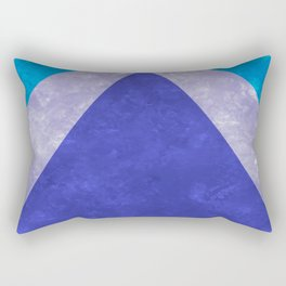 Blue Rays Rectangular Pillow