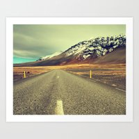 Landscape with Road Art Print