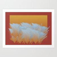 Future Ferns Art Print