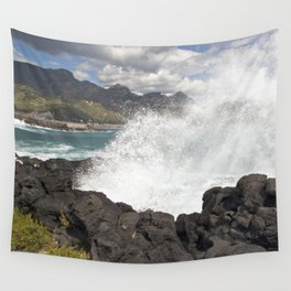 WAVES BEACH - SICILY Wall Tapestry