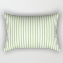 Color of the Year 2017 Greenery and White Mattress Ticking Stripes Rectangular Pillow