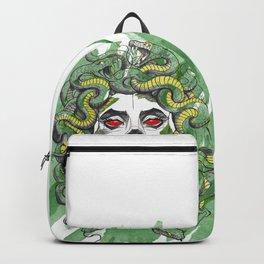 medusa face watercolor effect Backpack