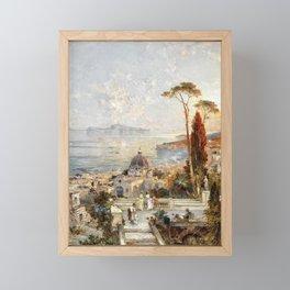Franz Richard Unterberger, Romantic landscape Framed Mini Art Print