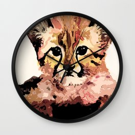 Leo the leopard Wall Clock