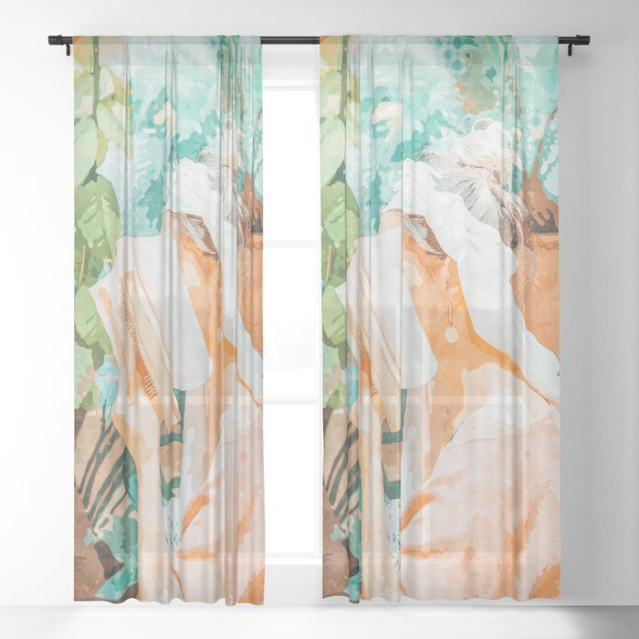 Turkish Reader Sheer Curtain