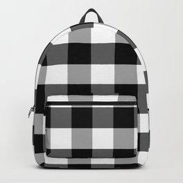 Goliath Jet Black Gingham Check Square Pattern Backpack