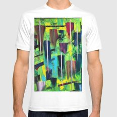 RAIN MEDIUM White Mens Fitted Tee