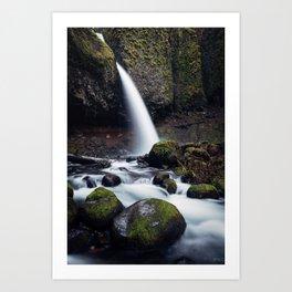 Ponytail Falls, Oregon Art Print