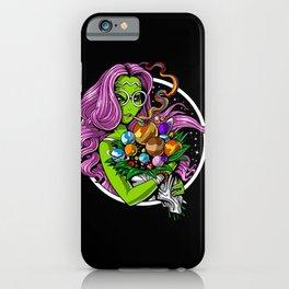 Alien Hippie Smoking Weed iPhone Case