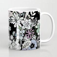 Colorful black detailed floral pattern Coffee Mug