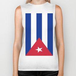 Flag of Cuba -cuban,havana, guevara,che,castro,tropical,central america,spanish,latine Biker Tank