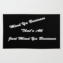 Mind Ya Business Rug
