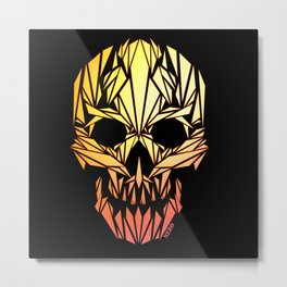 Infernal Skull Metal Print