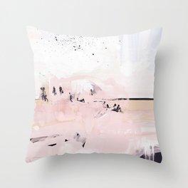 Peach Beach Throw Pillow