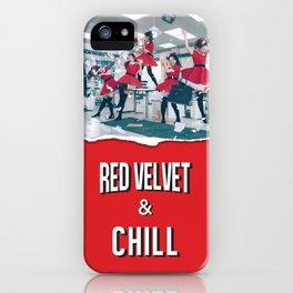 RED VELVET & CHILL iPhone Case