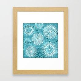 Mandala sky - Frost on your window Framed Art Print