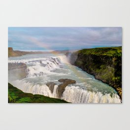 Rainbow over Gulfoss Canvas Print