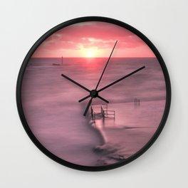 The Sea Pool Sunset, Bude, Cornwall, England, United Kingdom Wall Clock
