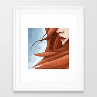 amy pond Framed Art Prints featuring Amy Pond by R. Vijfhuizen
