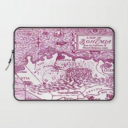 Map of Bohemia (pink) Laptop Sleeve
