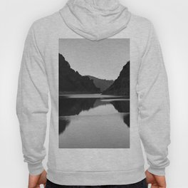 Lake mountain. At sunset Hoody