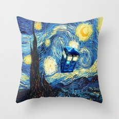 Soaring Tardis doctor who starry night iPhone 4 4s 5 5c 6, pillow case, mugs and tshirt Throw Pillow