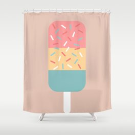 Popsicle (Peach) Shower Curtain