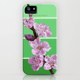 Cherry Blossoms on Greens iPhone Case