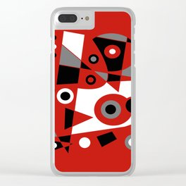 Abstract #905 Clear iPhone Case