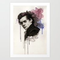 harry styles Art Prints featuring Harry Styles by bellavigg