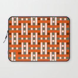 Cross Stitch Quilt Latter Design Chutes Weave Laptop Sleeve