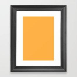 Pastel orange Framed Art Print