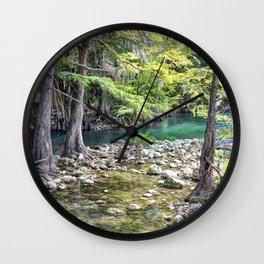 Cypress Trees Wall Clock