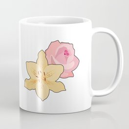 Pink Rose & Day Lily Coffee Mug