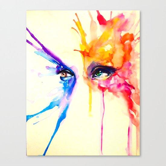 stare into the sun Canvas Print