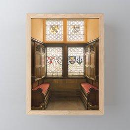 Edinburgh castle stained glass windows Scotland Framed Mini Art Print