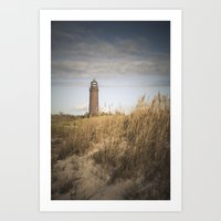 lighthouse Art Prints featuring Lighthouse  by Maria Heyens