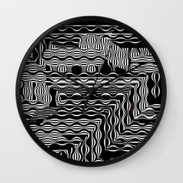 EXOTIC BLACK AND WHITE PATTERN Wall Clock