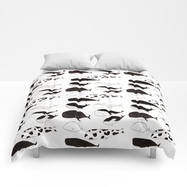 Whales are awesome! Comforters