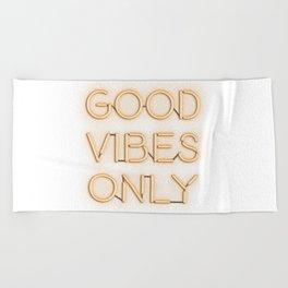 Neon Good Vibes - Orange Beach Towel