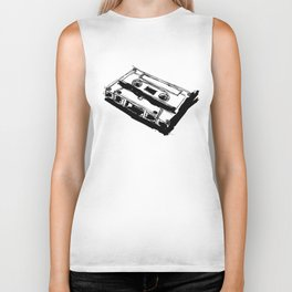 Retro Cassette Tape Biker Tank