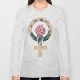 Respect, equality, women's liberation. Feminism Power Fist / Raised Fist Long Sleeve T-shirt