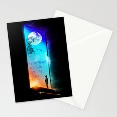 Everything you can imagine is real. Stationery Cards