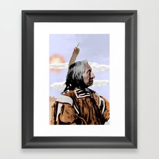 Chief Red Cloud. Oglala Lakota. 1898 COLOR - 026c Framed Art Print